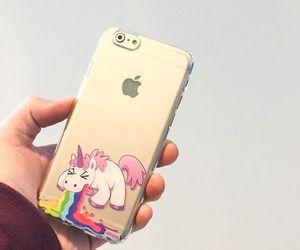 unicorn, iphone, and rainbow image