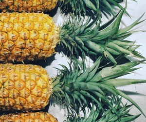 fruit, pineapple, and yellow image