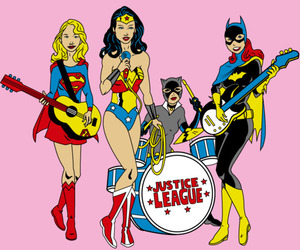 wonder woman, batgirl, and justice league image