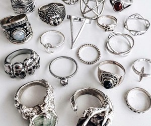 rings, accessories, and grunge image