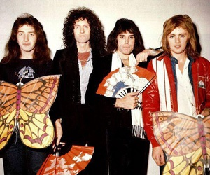Freddie Mercury, Queen, and roger taylor image