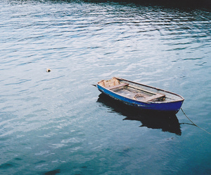boat, blue, and water image