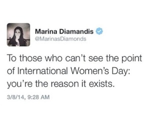 feminism, girls, and marina and the diamonds image