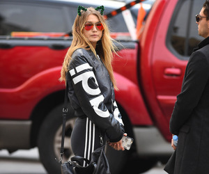 gigi hadid, adidas, and model image