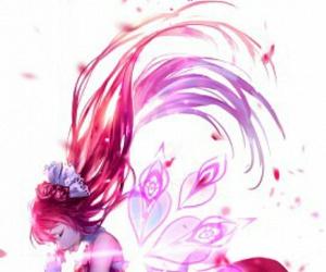 anime girl and red image