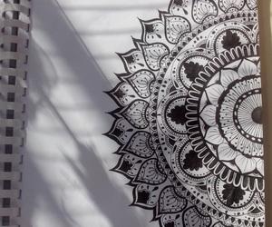 black, art, and drawing image