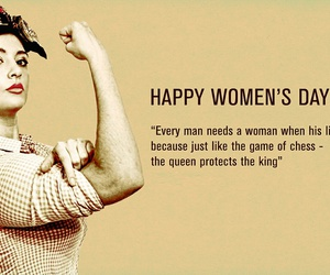 woman, women's day, and quote image