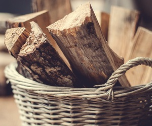 wood, basket, and autumn image