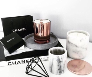 chanel, marble, and candle image