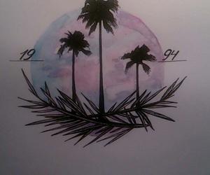 beautiful, palms, and tattoo image