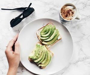food, avocado, and coffee image