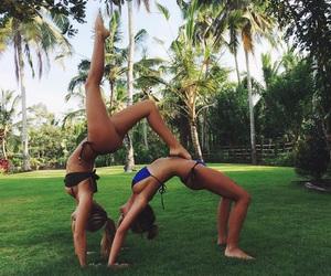 best friends, besties, and yoga image