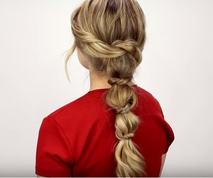 hairstyle, hairstyles, and ponytail image