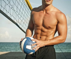 Hot, boy, and volleyball image