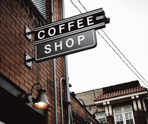 coffee shop, brown theme, and brown aesthetic image