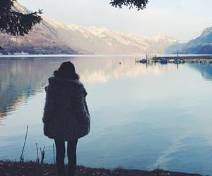 girl, indie, and landscape image