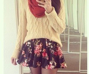 chic, winter, and dress image