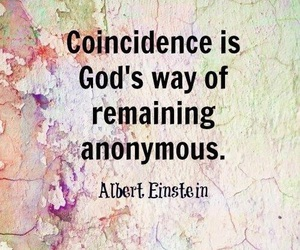 Albert Einstein, quotes, and coincidence image