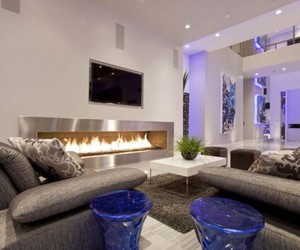 luxury, home, and living room image