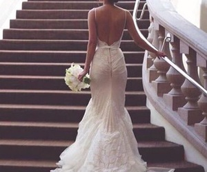 dress, wedding, and goals image