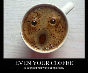 coffee, funny, and morning image