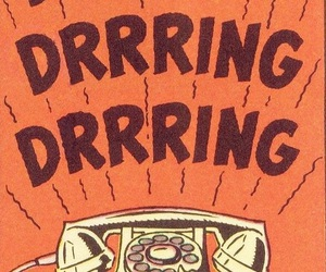phone, vintage, and comic image