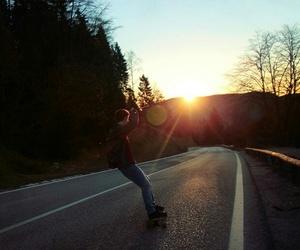 freedom, sunrise, and road image
