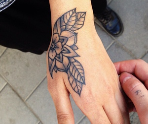 cool, tattoo, and hand image
