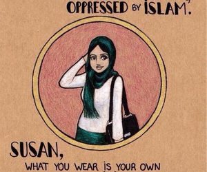 hijab, islam, and woman image