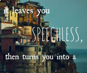 travel, quotes, and speechless image