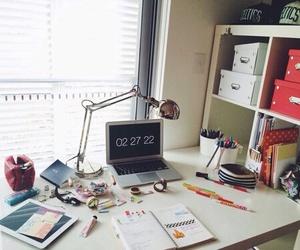 school, desk, and study image