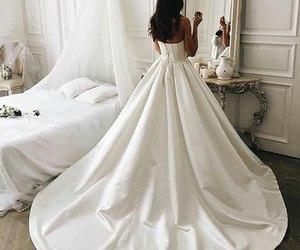 dress, bride, and fashion image