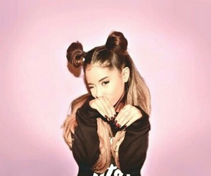 pink, hair, and ariana grande image