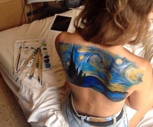 art, skin, and van gogh image