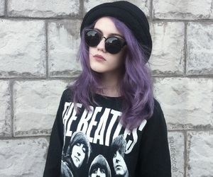 girl, grunge, and the beatles image