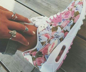 floral, nike, and pink image