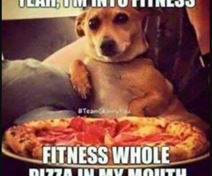 pizza, fitness, and funny image