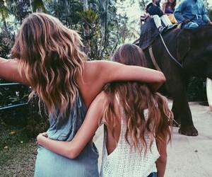 beach, friendship, and best friends image
