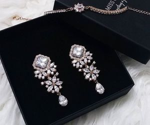 earrings, fashion, and luxury image