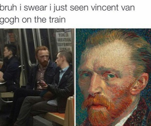 funny, lol, and van gogh image