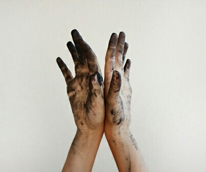 hands, grunge, and art image