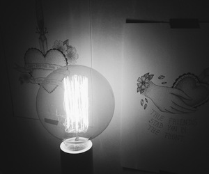 drawing, lamp, and dotwork image