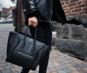black, bag, and fashion image