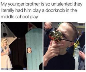 funny, lol, and doorknob image