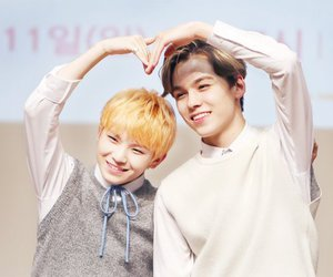 vernon, woozi, and Seventeen image