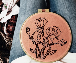 art, design, and embroidered image