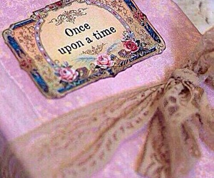 book, pink, and once upon a time image