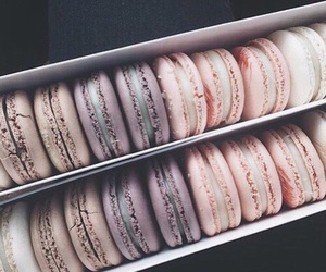 food, macaroons, and hungry image