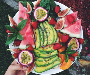 avocado, healthy food, and passionfruit image