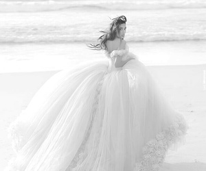 beach, dress, and girly image